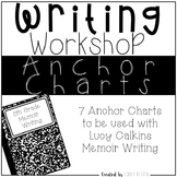 Memoir Writing Anchor Charts for Lucy Calkins