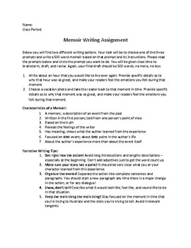 Memoir Writing Assignment