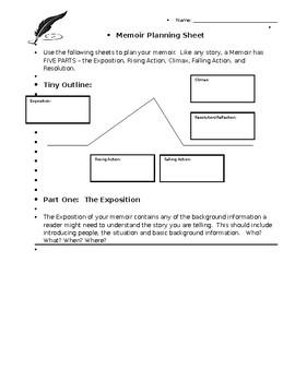 Memoir Writing Unit Plan