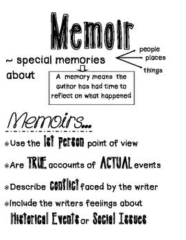 Memoir chart
