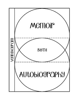 Memoir vs. Autobiography - Venn Diagram Foldable
