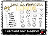Mémoire / / / Jeu de vocabulaire LES ÉMOTIONS (French emot