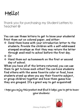 Back To School Letter Template from Child