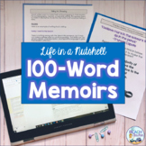 Memoirs in 100 Words - Writing with Mentor Texts - Distance Learning