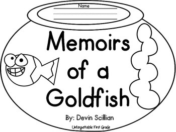Memoirs of a Goldfish {Reader's Response Flip Book}