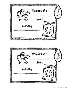 Memoirs of a Seed Mini Book FREEBIE