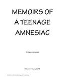 Memoirs of a Teenage Amnesiac writing prompts