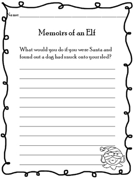 Memoirs of an Elf Activity Pages