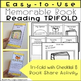 Book Tri-fold Most Memorable Book 3rd and 4th Grade