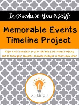 Memorable Events Timeline Project