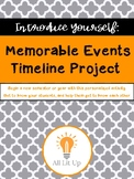 Memorable Events Timeline Project