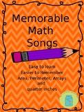 Memorable Math Songs