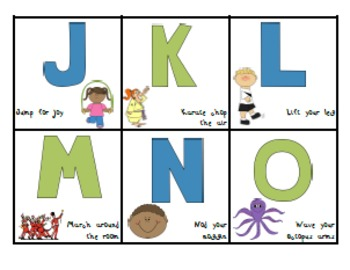 Memorable Motions: Printable Alphabet Activity Cards