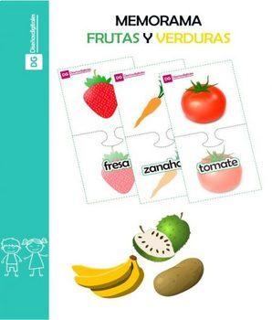 Memorama de Frutas y Verduras para Niños