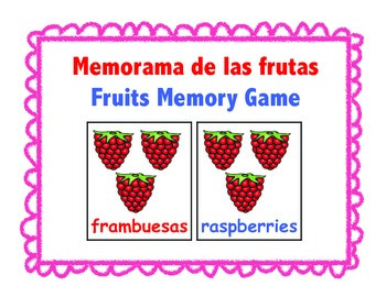 Memorama de las frutas-Fruits Memory Game