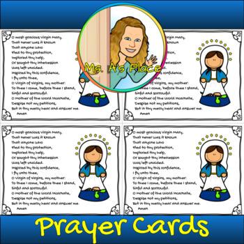 image about Memorare Prayer Printable identify Memorare Prayer Worksheets Coaching Supplies TpT