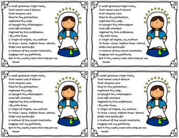 Memorare Prayer Card