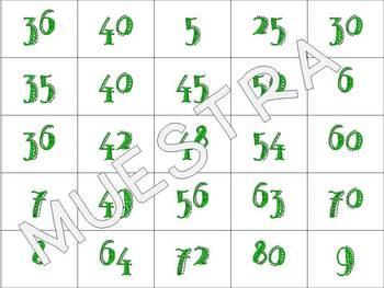 Memoria de multiplicaciones / Flashcards for Multiplication