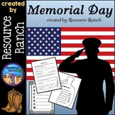 Memorial Day Printables|Reader|Vocabulary|Craft