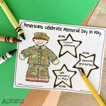 Memorial Day Activities And Craft By First Grade Schoolhouse Tpt
