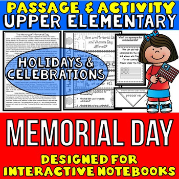 Memorial Day: Passage and Questions: Interactive Notebook Activity