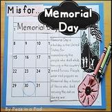 Memorial Day Activities for Kindergarten, 1st, 2nd, 3rd Grade