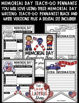 Memorial Day Writing Activity Poster Pennant