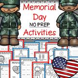 Memorial Day Activities: Grades K-2