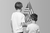 Memorial Day Flag Stock Image