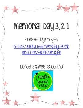 Memorial Day 3, 2, 1