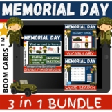 Memorial Day 3 in 1 BUNDLE - Boom Cards Distance Learning