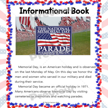 Memorial Day Activities and Worksheets