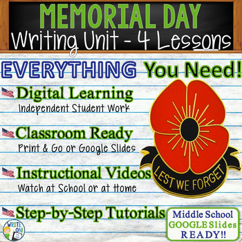 Memorial Day Writing BUNDLE! - Argumentative, Persuasive, Expository, Narrative