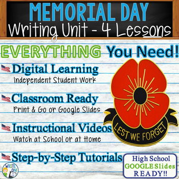 Memorial Day Writing BUNDLE! - Argumentative, Persuasive, Expository, Narrative