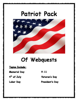 Memorial Day-4th of July-Labor Day-9/11-Veterans Day-Presidents Day PATRIOT PACK