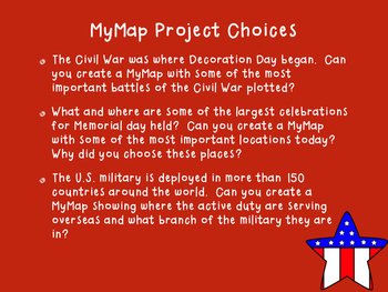 Memorial Day: A Google MyMaps Activity