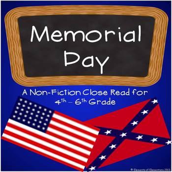 Memorial Day: A Nonfiction Close Read for 4th-6th Grade