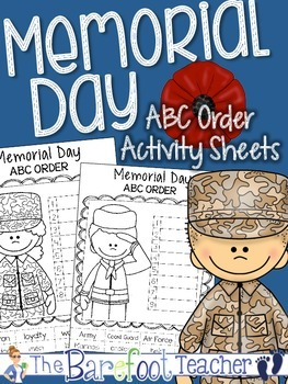 Memorial Day ABC Order {Cut & Paste}