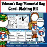 Memorial Day AND Veteran Card-Making Kit! Poems, Pictures, Text, &  Characters