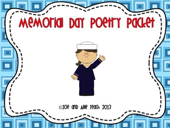 Memorial Day Acrostic Poetry Packet