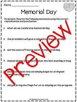 Memorial Day Activities