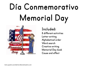 Memorial Day Activities - Dia de los Caidos Spanish