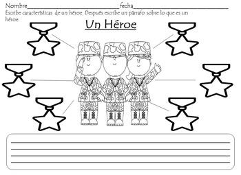 Memorial Day Activities - Dia de los Caidos Spanish