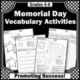 Print and Go Memorial Day Word Search Activities Worksheets