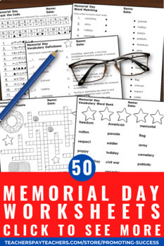 Print and Go Memorial Day Word Search Activities ...