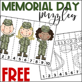 Memorial Day Activities FREE Math Counting to 10 Puzzles