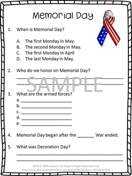 photograph about Memorial Day Printable Activities identify Memorial Working day Looking through Knowledge Worksheets