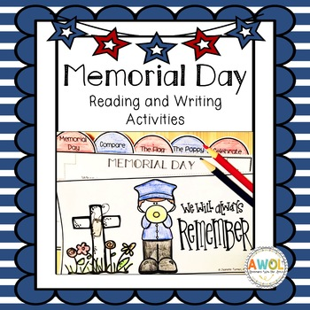 Memorial Day Activities (History, Reading and Writing) Grades 1-3