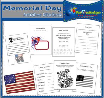 Memorial Day Activities Mini-Book