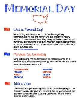 Memorial Day Activity - Color